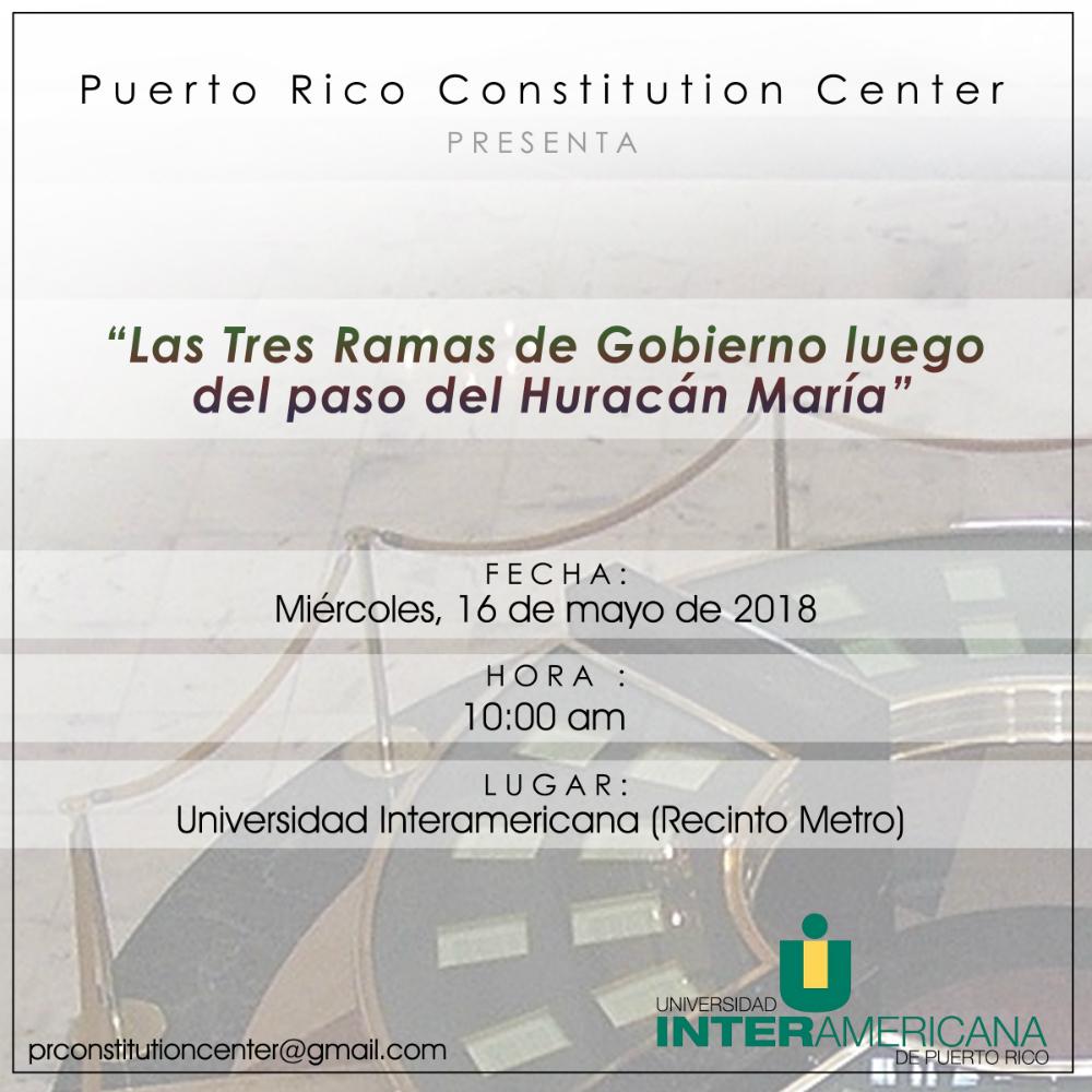 Panel: Las tres ramas de gobierno luego del paso del huracán María