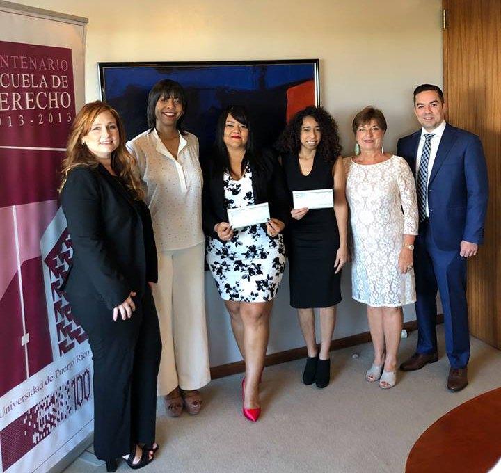 Estudiantes de Derecho UPR reciben beca del bufete Jackson Lewis 2018-2019