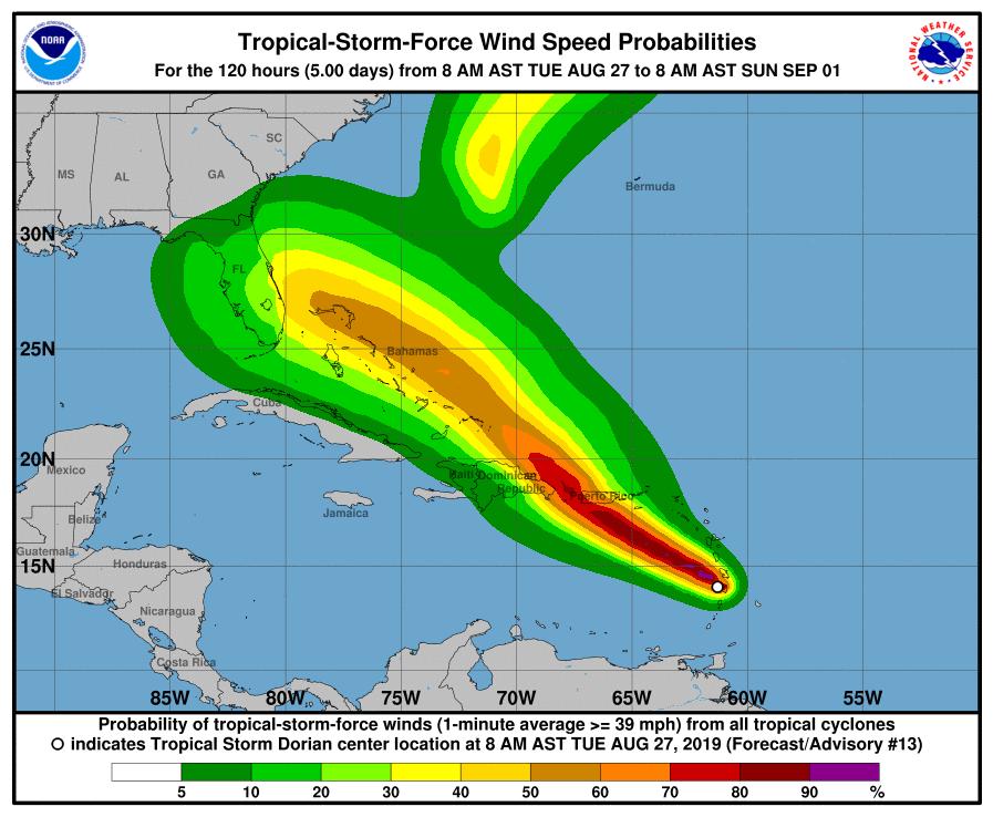 Rama Judicial suspende operaciones mañana por tormenta tropical Dorian