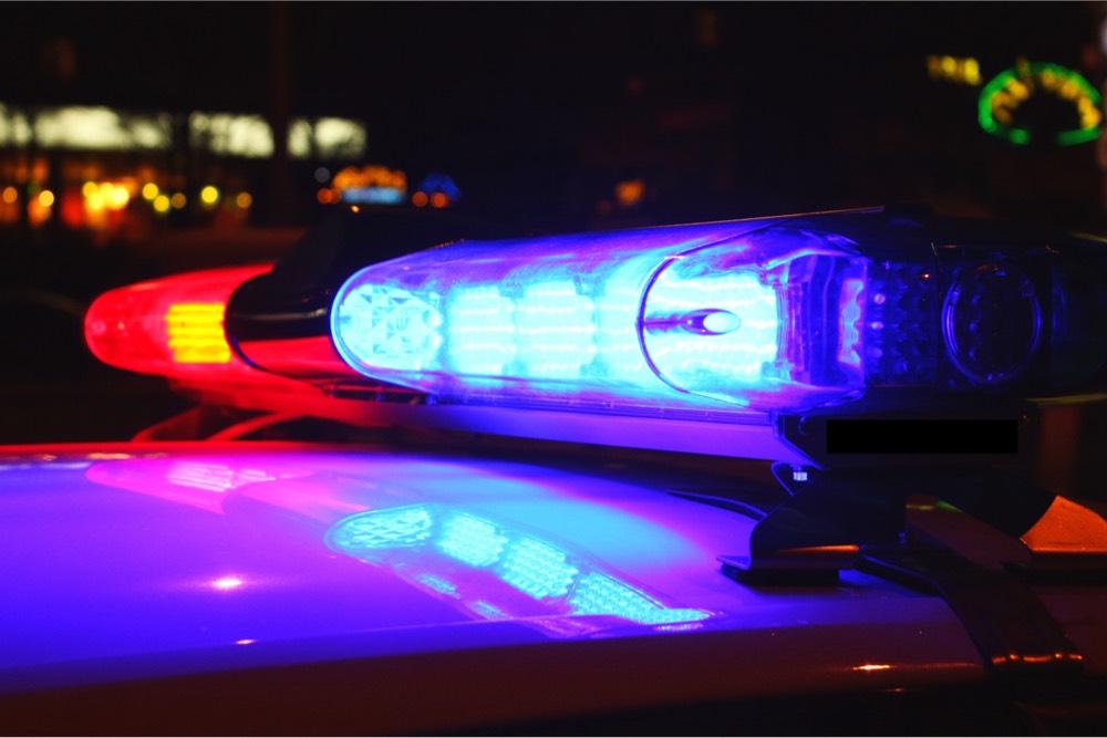 biombo patrulla policía luces
