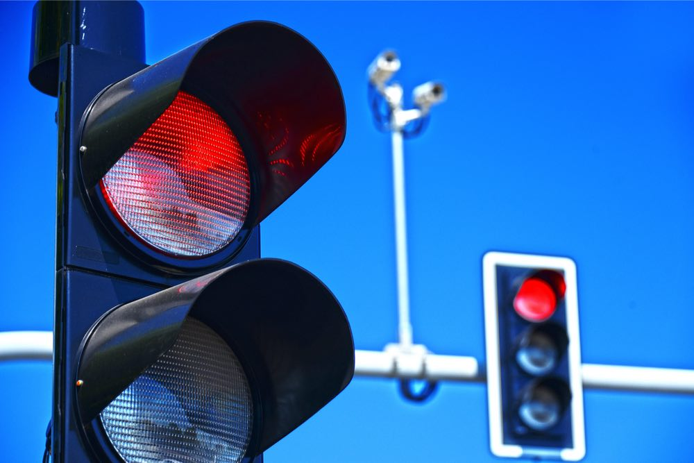 semáforo luz roja