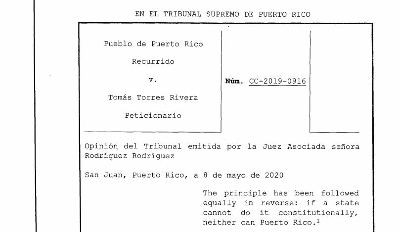 Pueblo v. Torres Rivera